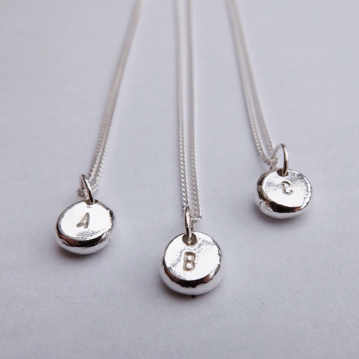 Silver Initial Pendants / Necklaces