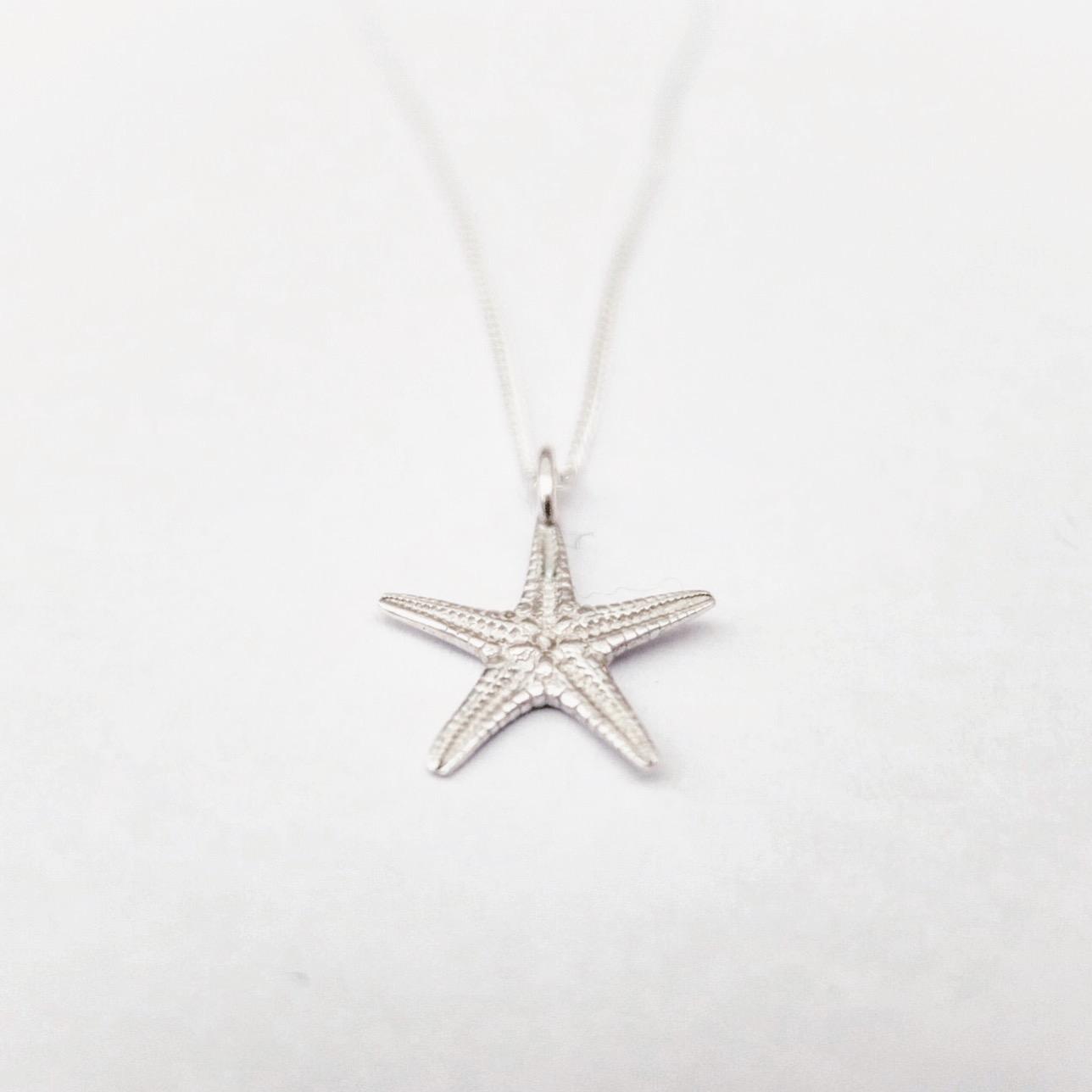 Silver Starfish Pendant / Necklace