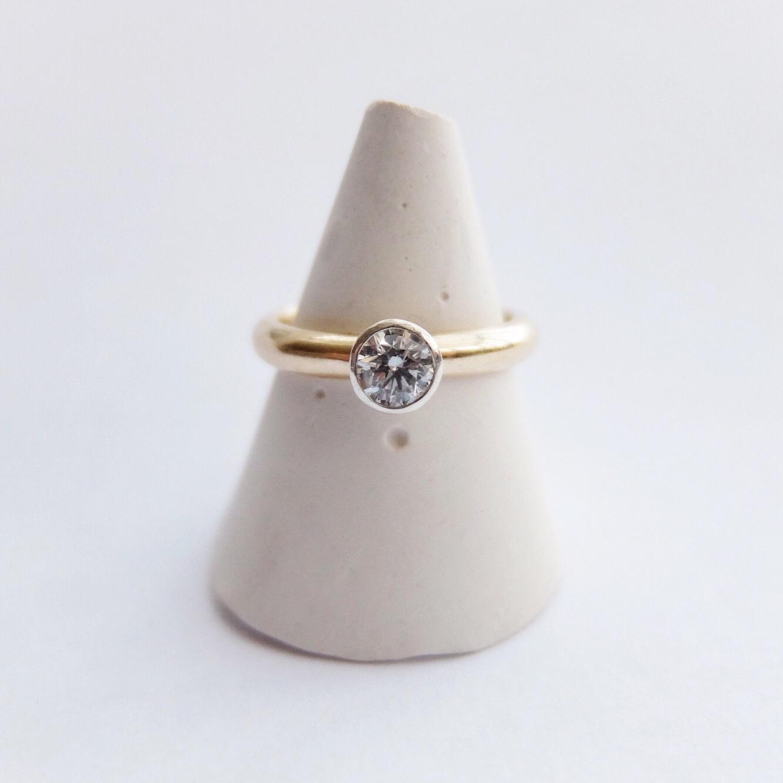 0.36ct 0.4ct, 0.3ct diamond engagement ring handmade uk devon 9ct yellow gold 9ct white gold bespoke ring stand jasmine bowden.jpg