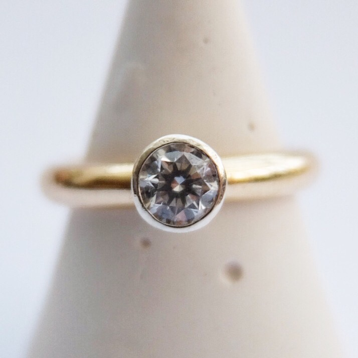 diamond engagement ring handmade jasmine bowden uk devon 9ct yellow gold 9ct white gold bespoke.jpg