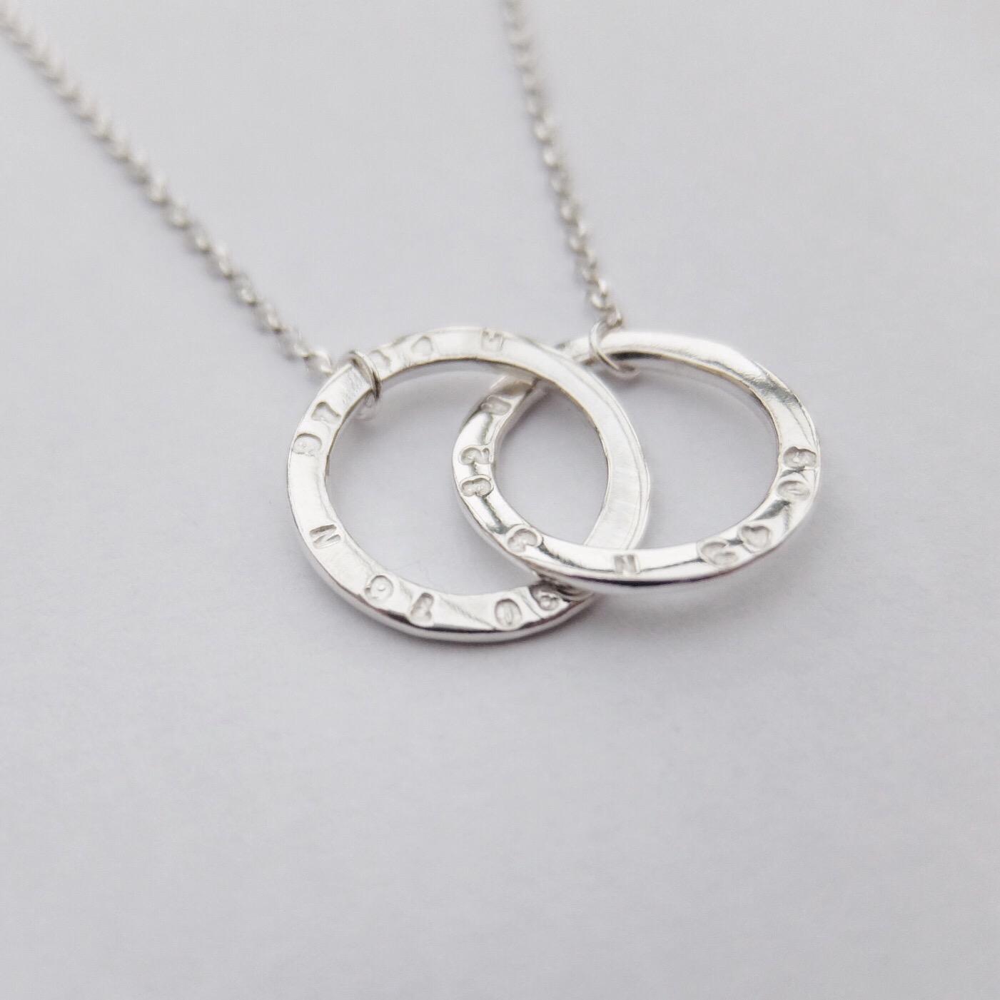 co ordinates necklace sterling silver circle pendant handmade devon uk jasmine bowden .jpg