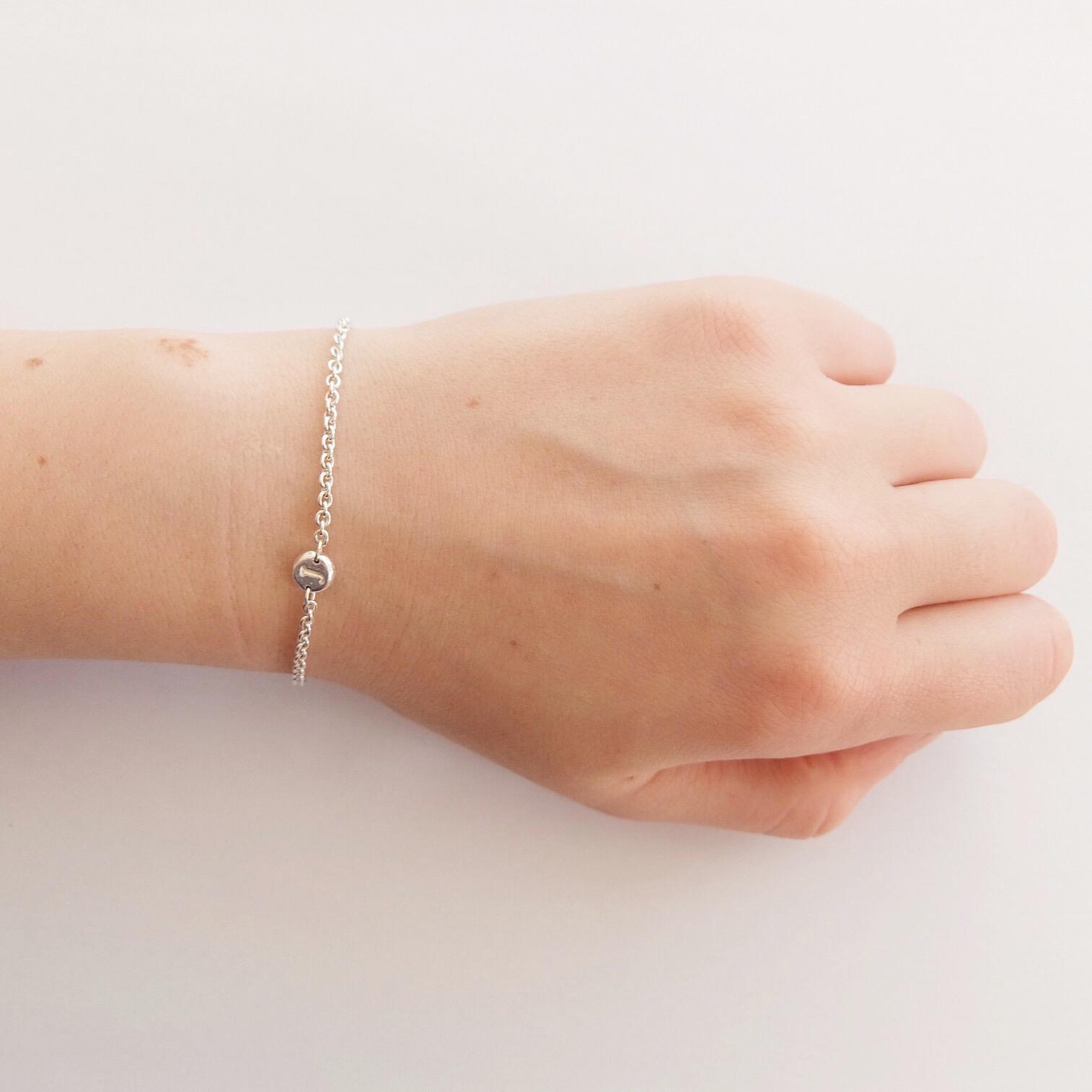 contemporary intial chain fine bracelet letter personalised fine jewellery handmade in uk devon exeter jasmine bowden.jpg