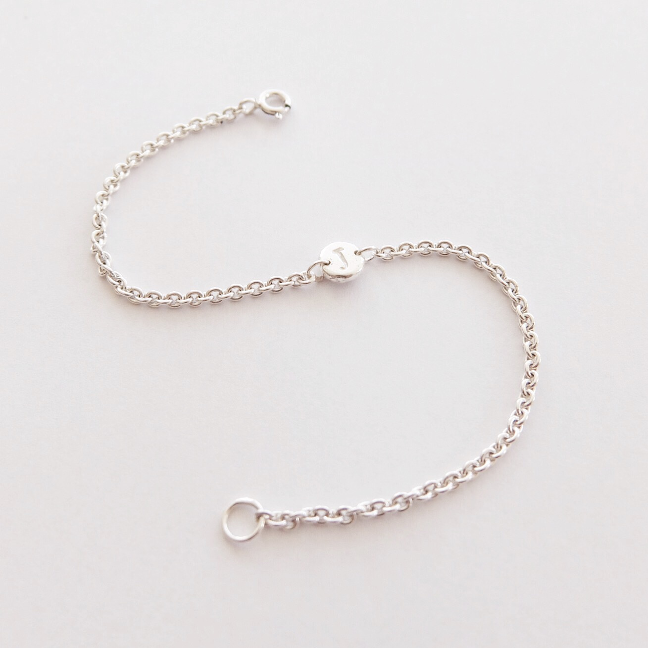 letter bracelet personalised intial jewellery gifts for her handmade jewellery made in uk devon exeter jasmine bowden sterling silver.jpg