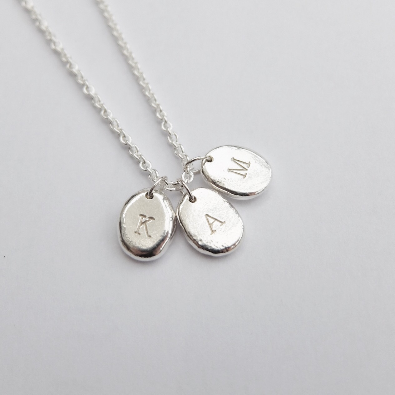 initial necklace gifts for nan gifts for mum letter pendant jewellery necklace silver handmade jasmine bowden uk devon letter stamped .jpg