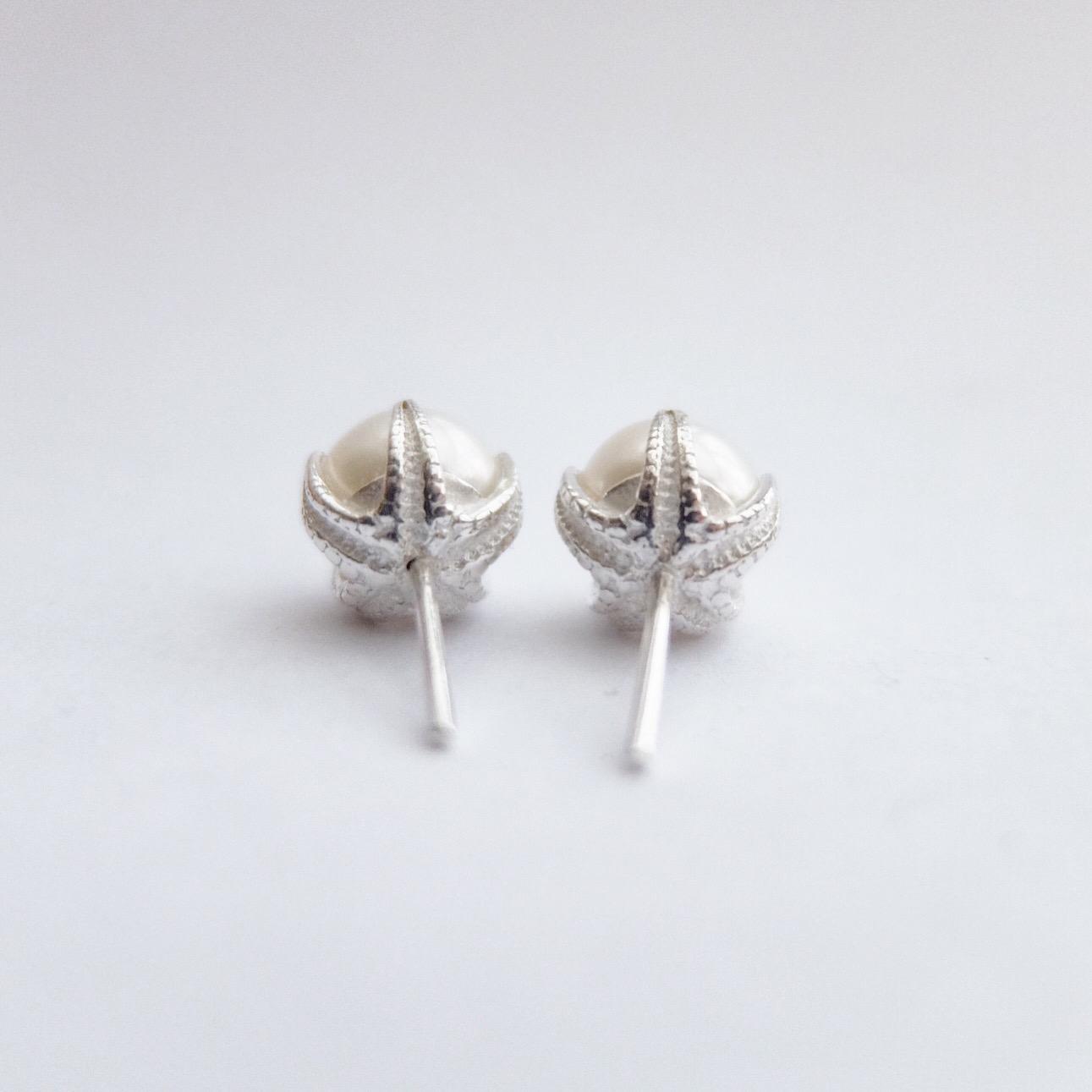 lustre pearl earrings bespoke handmade freshwater pearl studs sterling silver designer bridal jewellery pearls earrings wedding jewellery bride gifts white pearl simple jewelry made in devon uk exeter jasmine bowden.jpg