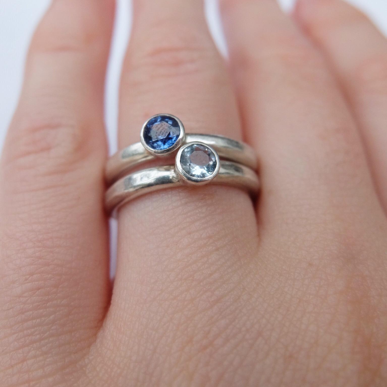 contemporary sapphire rings aquamarine handmade ring stacking rings contemporary chuny silver rings handmade uk devon exeter jasmine bowden simple jewellery jewelry jeweller.jpg