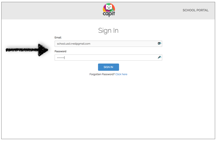 Enter your password to sign into the School Portal. -