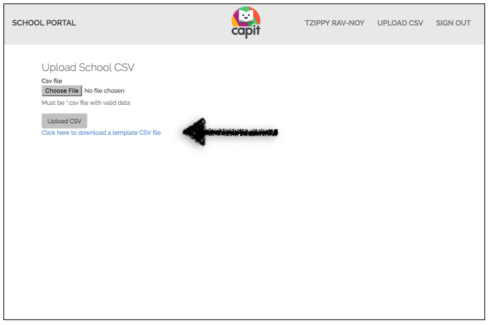 Download CSV template. -