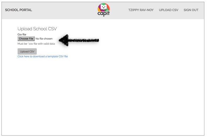 Click Choose file. -