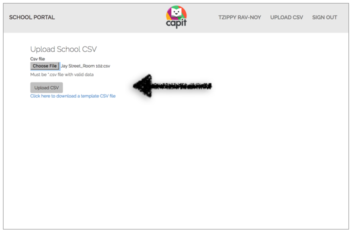 Upload CSV. - Getting an error message? CLICK HERE