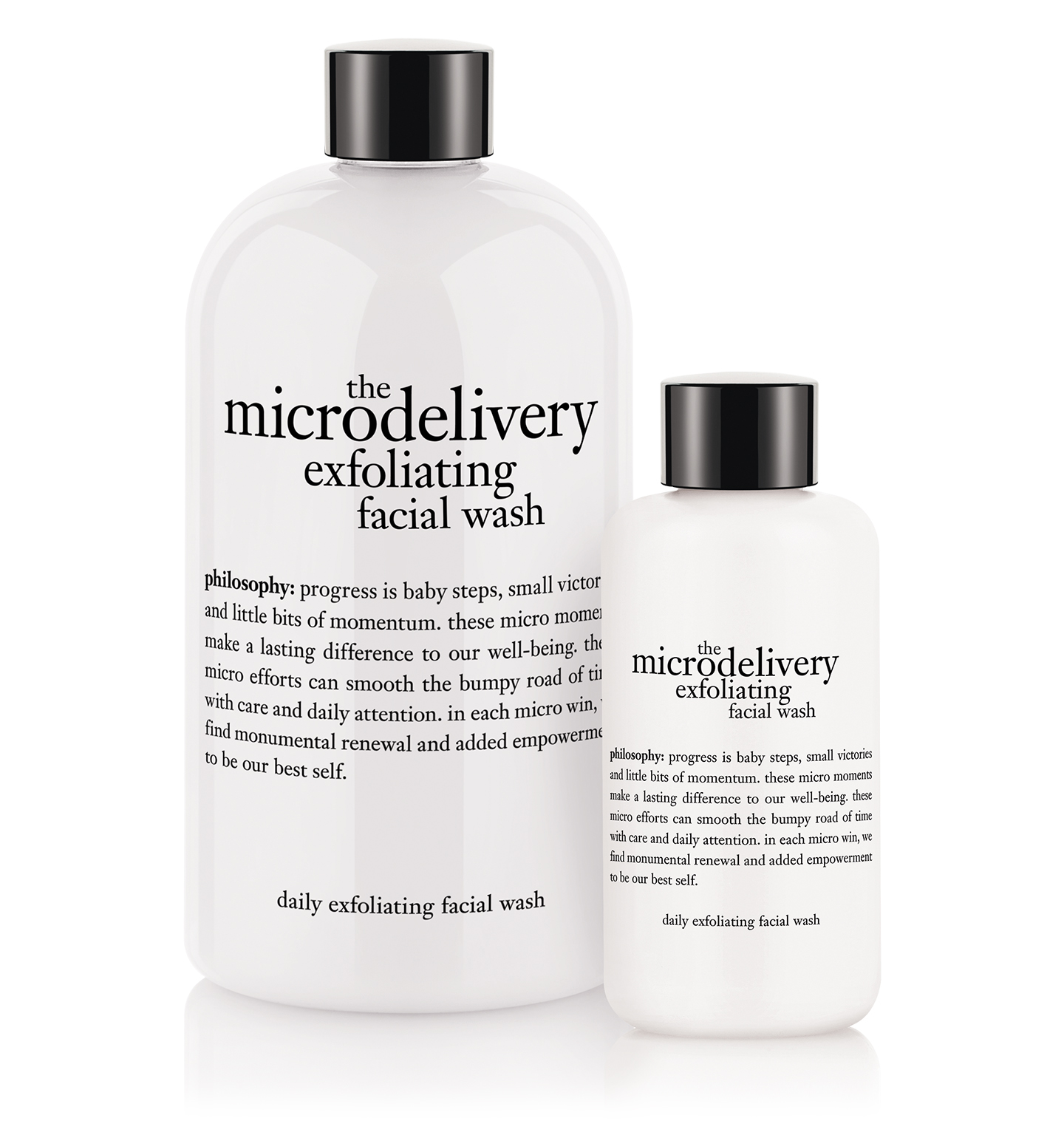 Microdelivery exfoliating facial wash