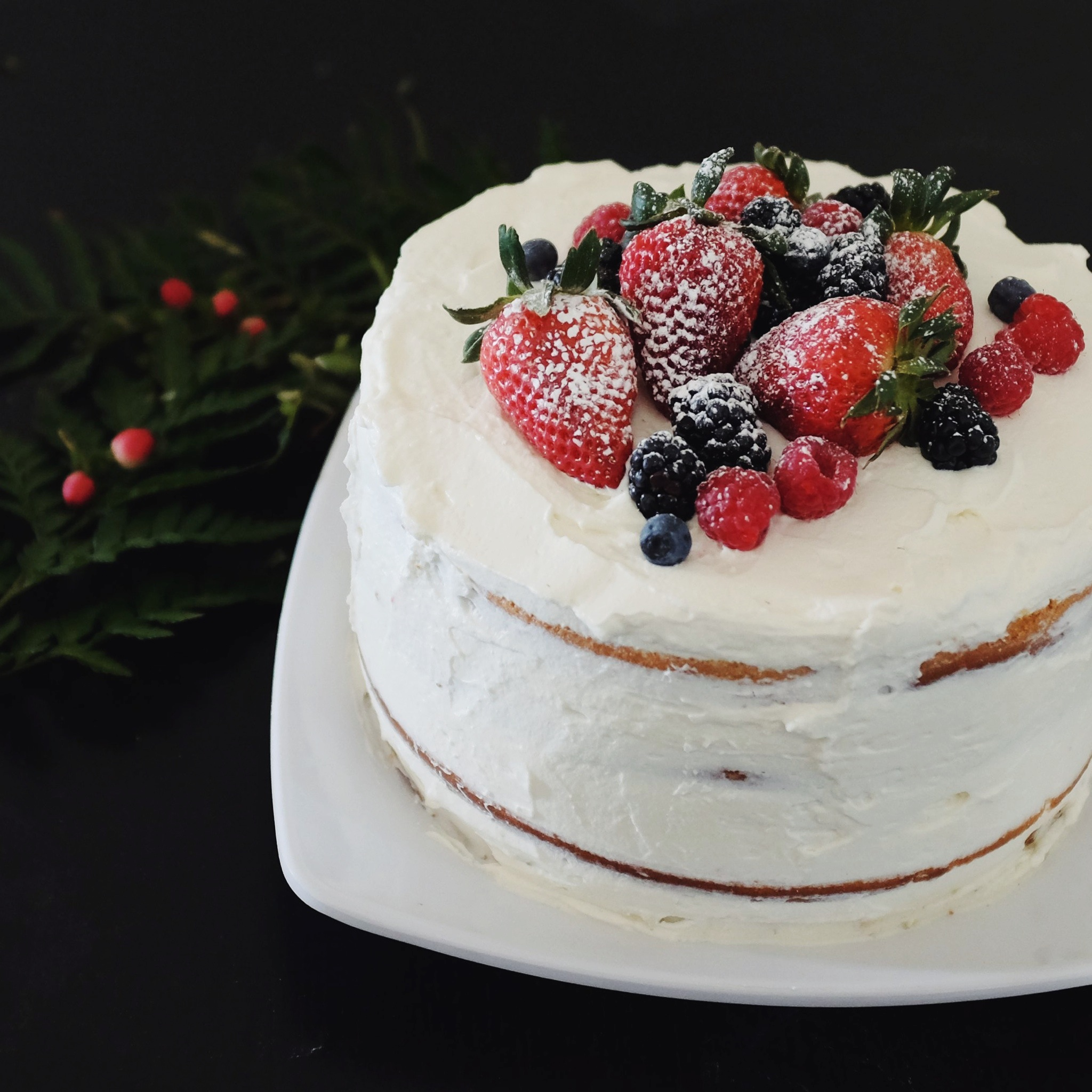 Berry-Sponge-Birthday-Cake
