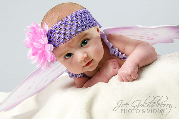 Sophia Elise with her wings, ready to fly away...