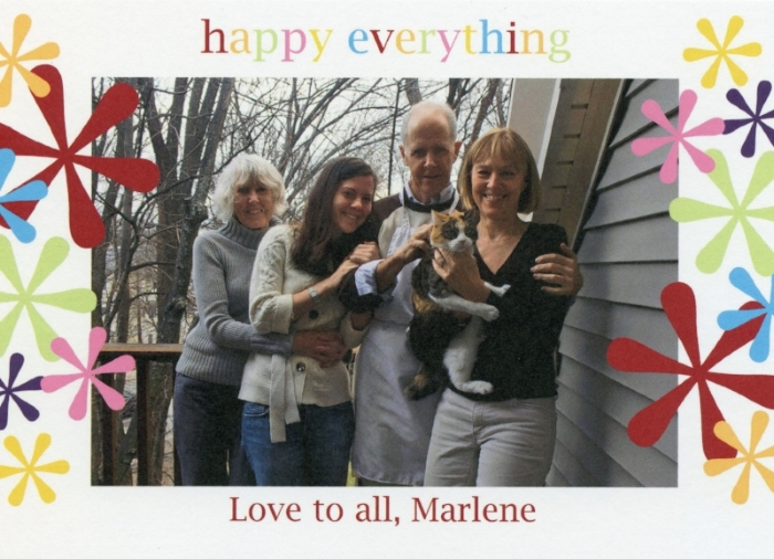 Marlene's Christmas card, 2008