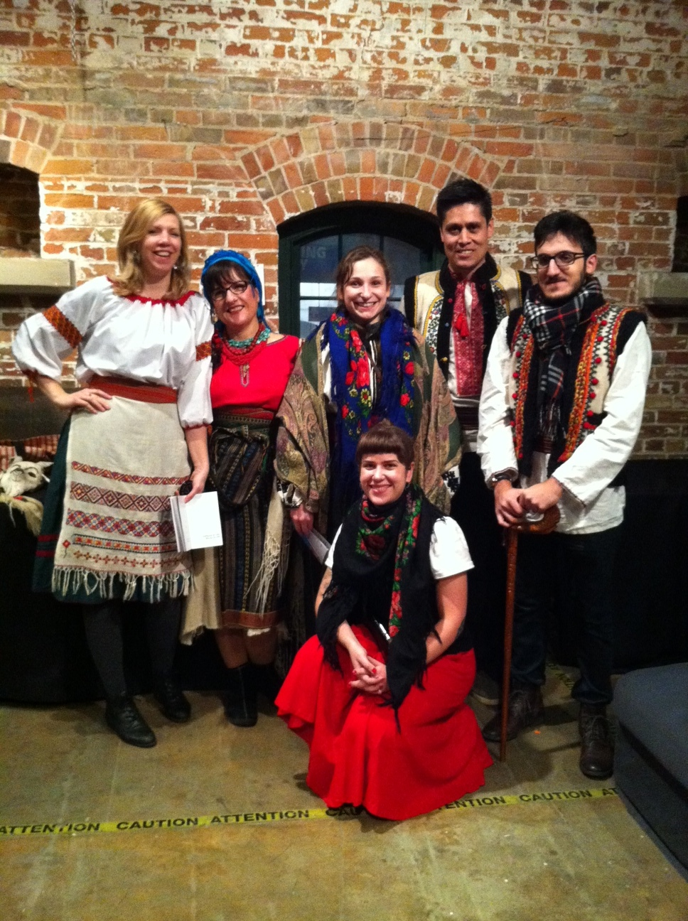 "Kosa Koliadnyky in the ""green room"" at Distillery District Christmas Market 2016!"