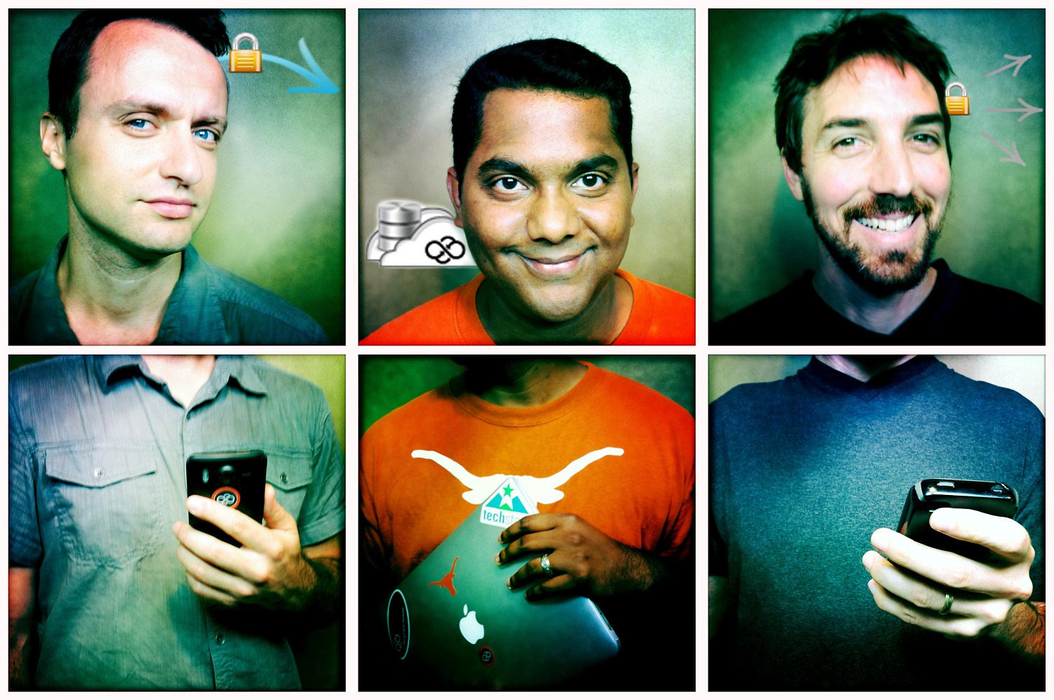These folks do back-end support for mobile apps - so I photographed them with an iPhone