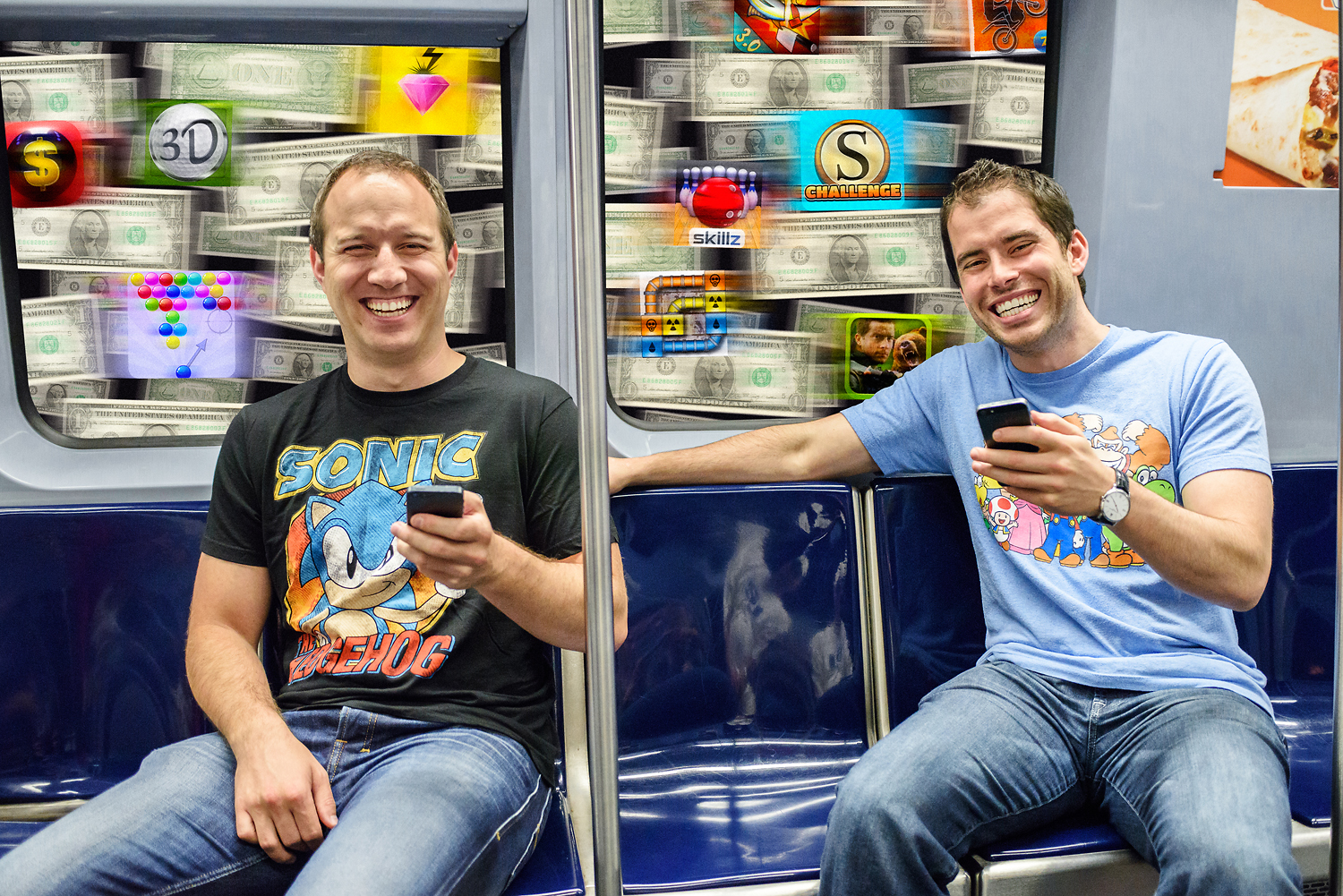 Mobile gaming for money - Most people use their app while commuting, so we rode the T for an afternoon