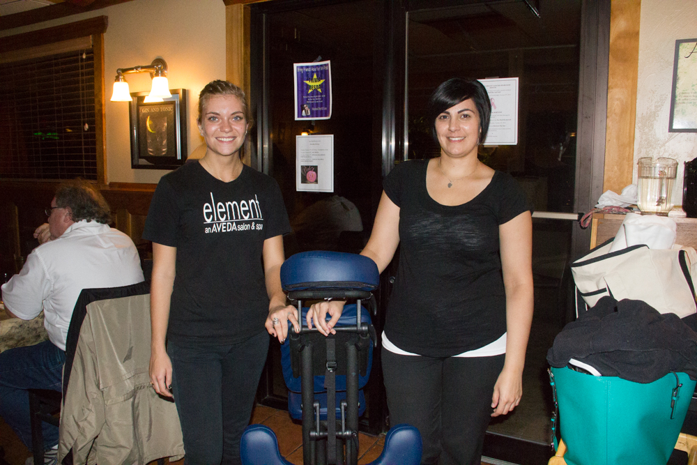 Masseuses, Sara Wafa and Stephanie Fiedler, of the Element Day Spa