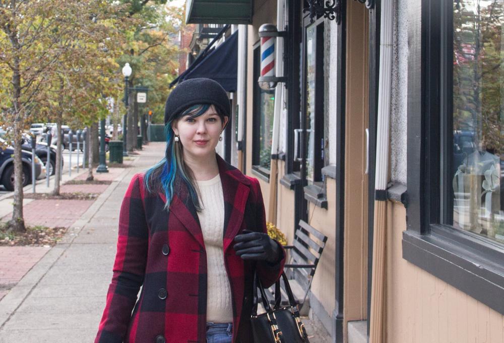 Coat: Banana Republic, Sweater: Pendleton, Jeans: Ann Taylor, Bag: Prada