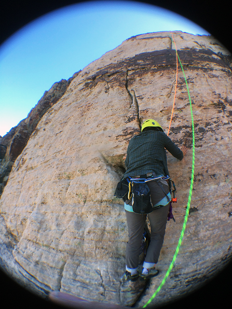Nancy starting the 4th pitch to the finish