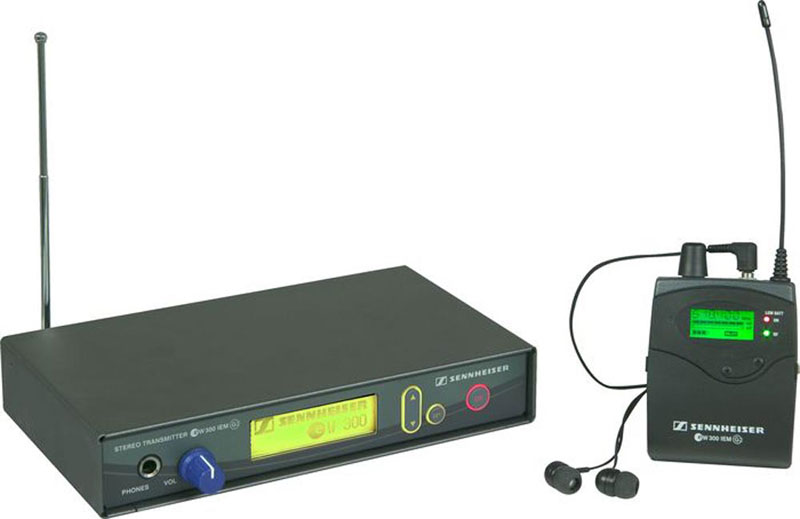 Transmitter (left) and Receiver (right). Headphones not supplied unless requested.