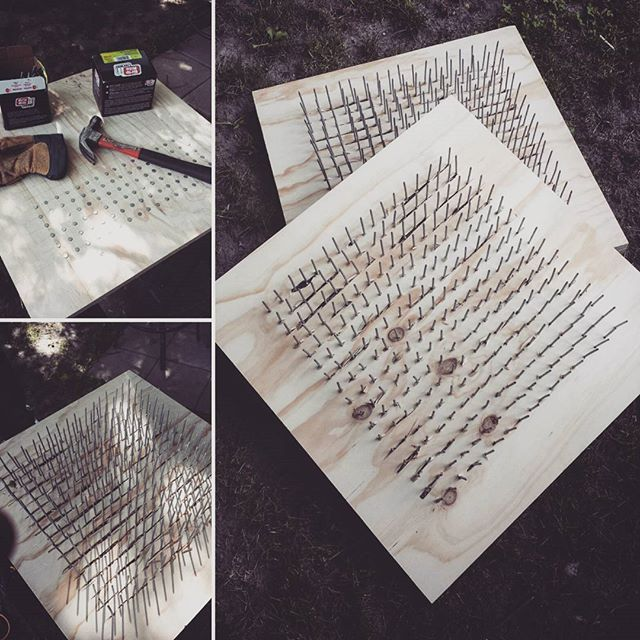 Two beds of nails from start to finish. To paraphrase Matt Damon, time to science the crap out of these. #science #stem #physics