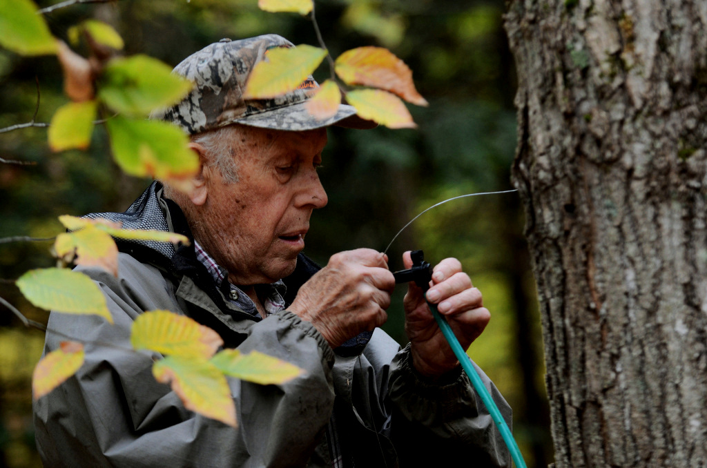 "Max, 89, has lived on the same land since birth and started operating the maple syrup business with his father during World War II, when rations made sugar difficult to find. Max took over the business and grew the farm to about 340 acres. ""I wouldn't move,"" he said. ""Even for a million bucks."""