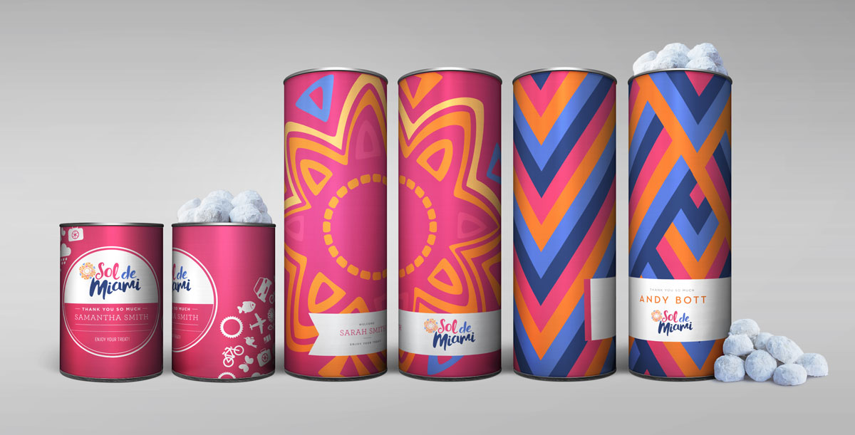 Mix and match our 8in canisters and 4in canisters for your next event. Not only can you mix and match the size, but you can also change up the design and fill!