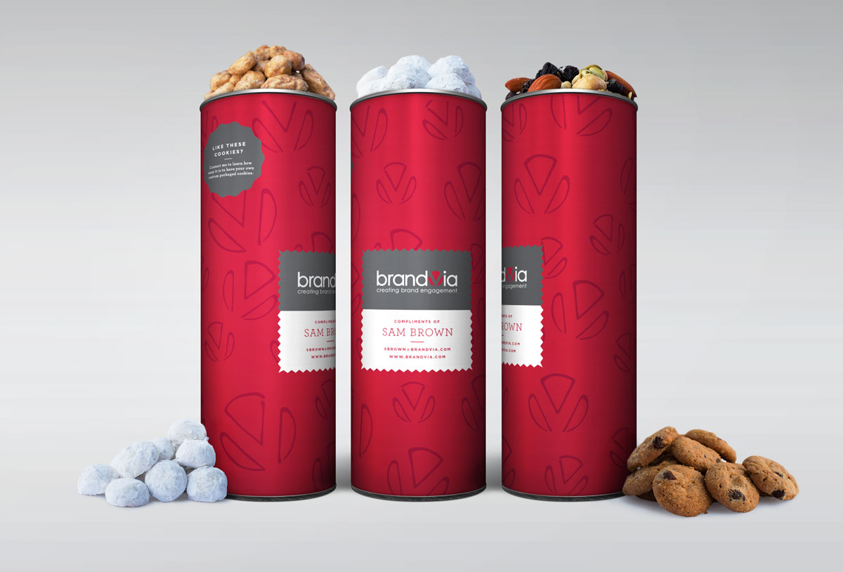 Create and edible business card with our 8in canisters. A perfect way to say thank you after a meeting, or as a sweet introduction.