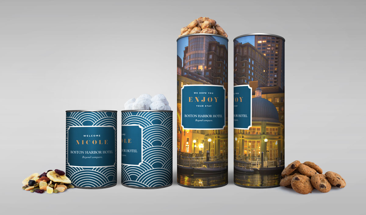 Our canisters make for a sweet welcome for guests at hotels. Choose from any of our products