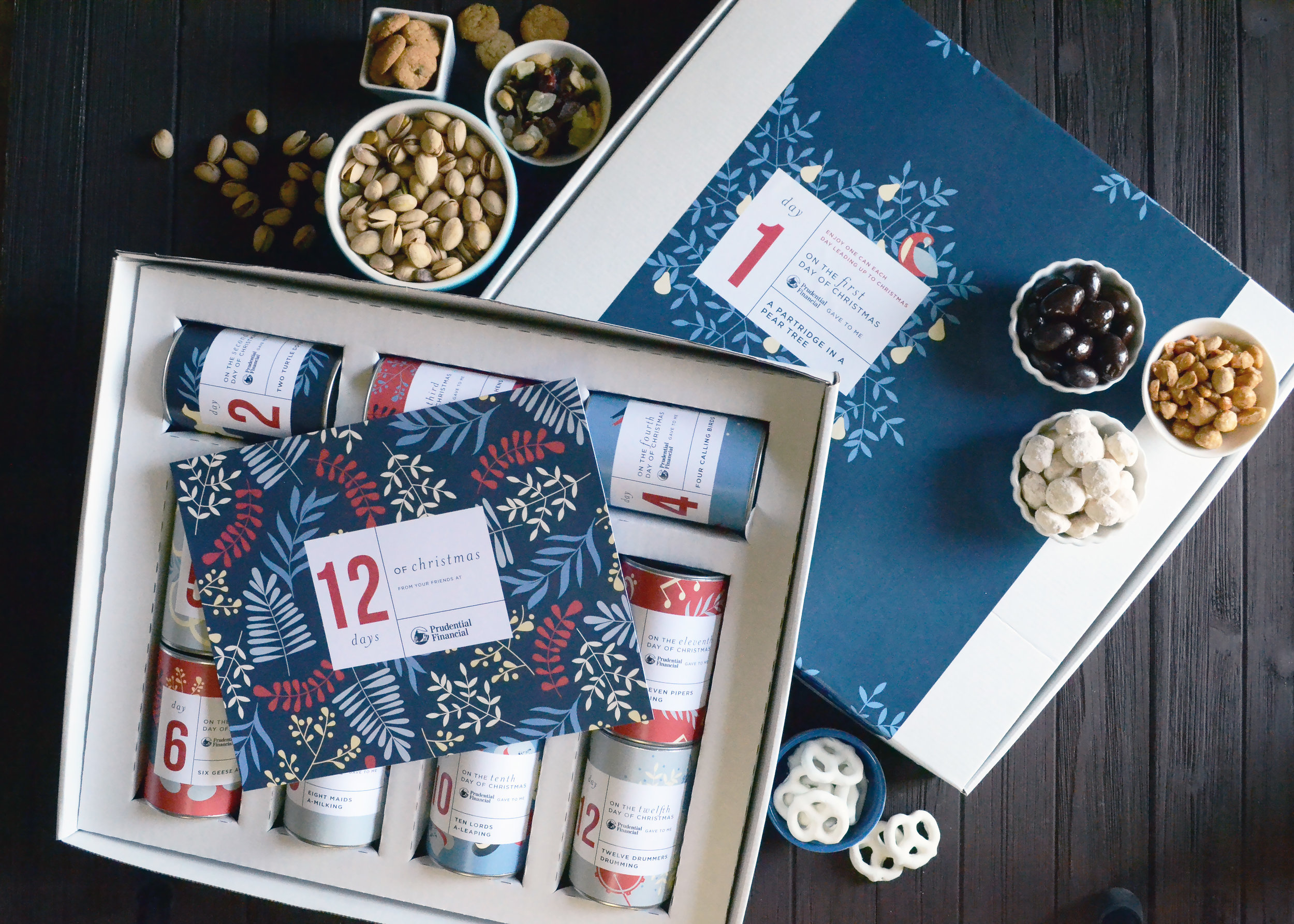 12 Days of Christmas Box Set - Eleven 4in Canisters with Card