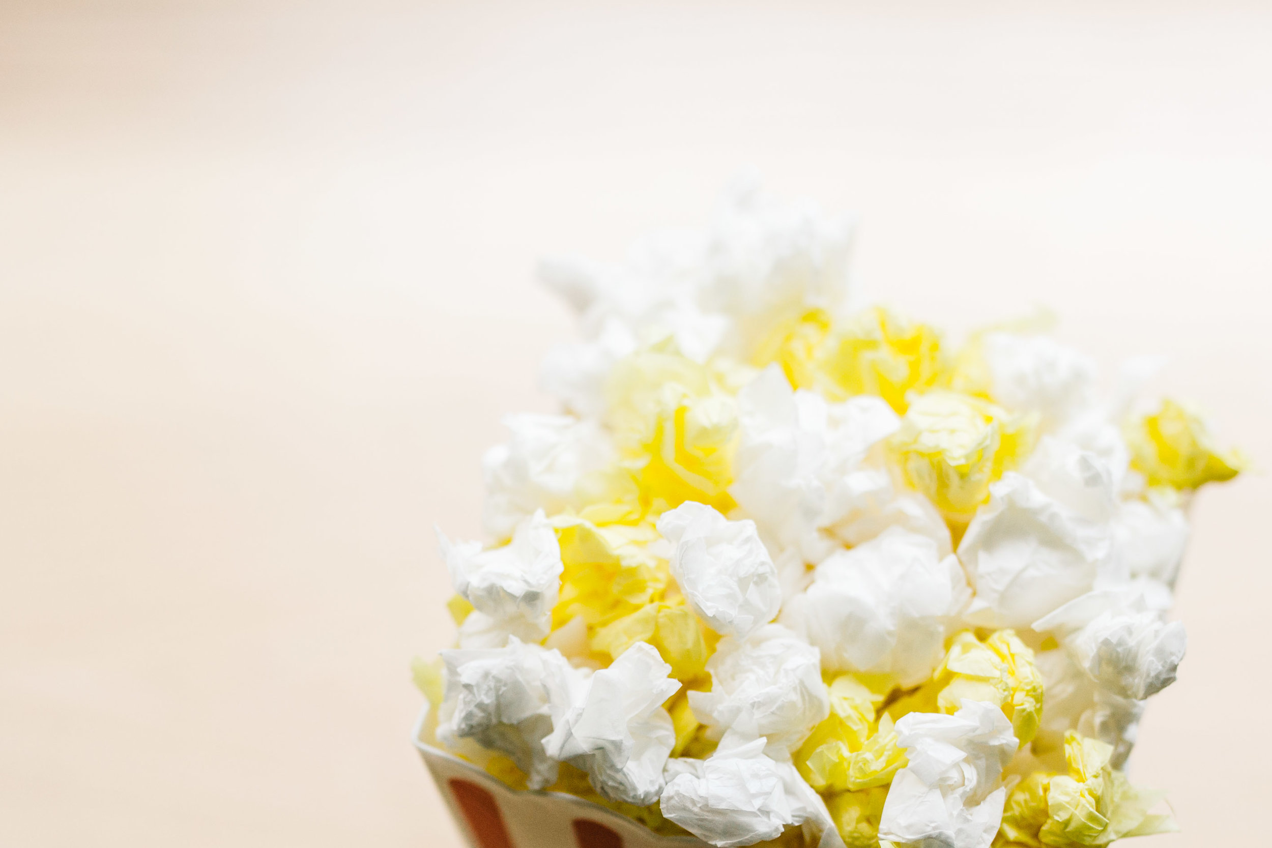 make popcorn out of paper | make fake popcorn | 100th day of school project | Jennifer Tippett Photography