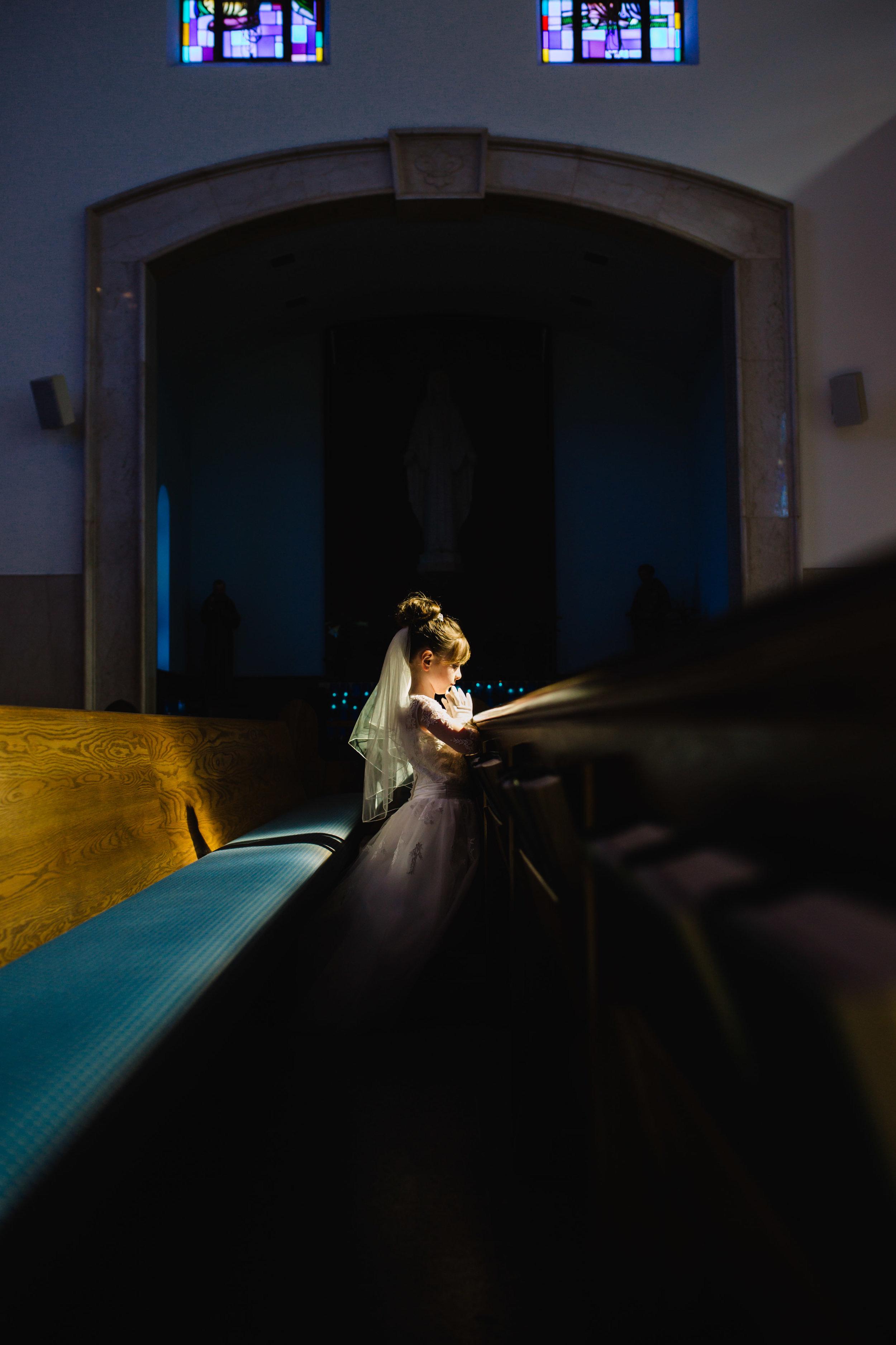 First Communion Session | St. Patrick's Church, Huntington, NY