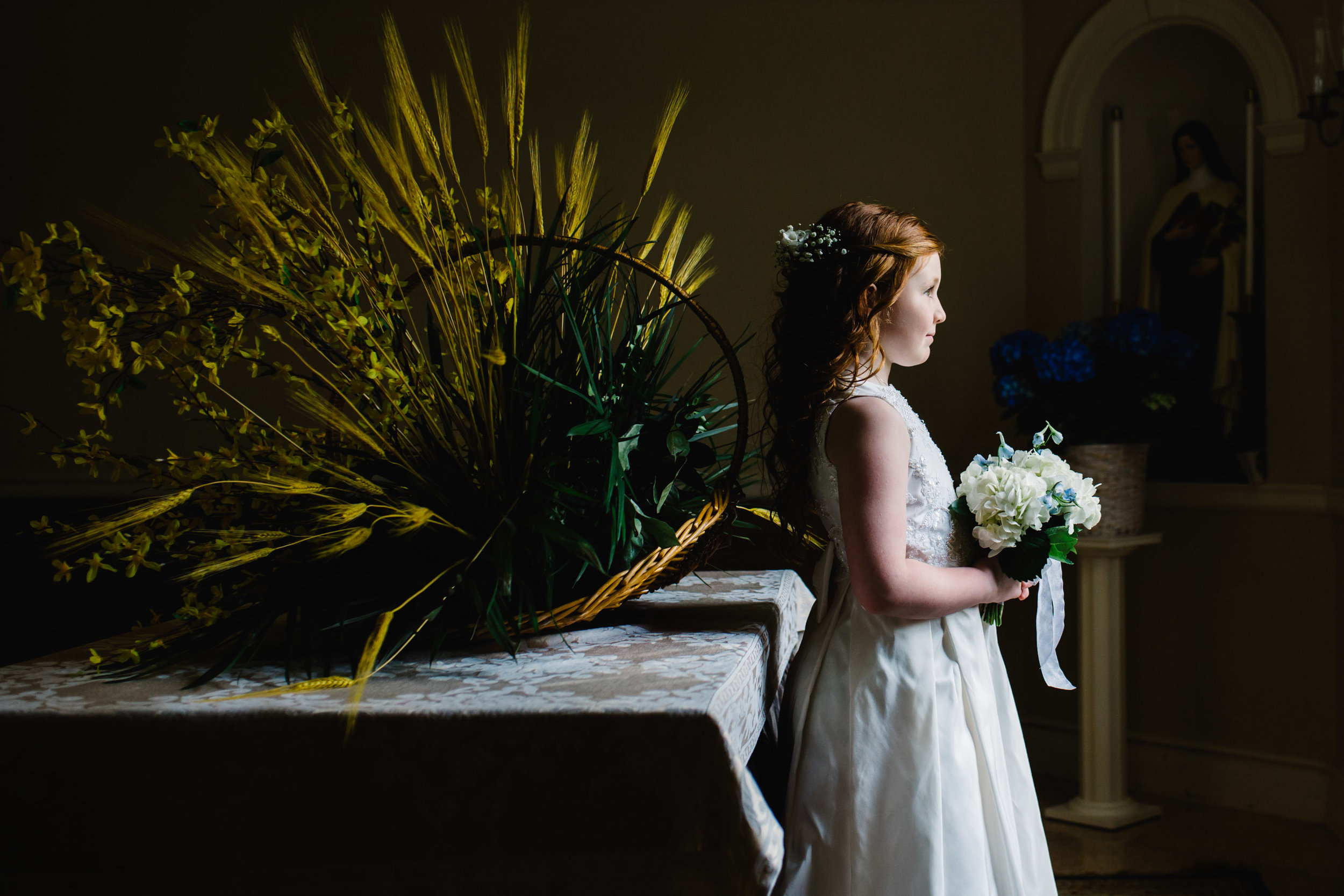 first communion portrait session at church | Jennifer Tippett Photography