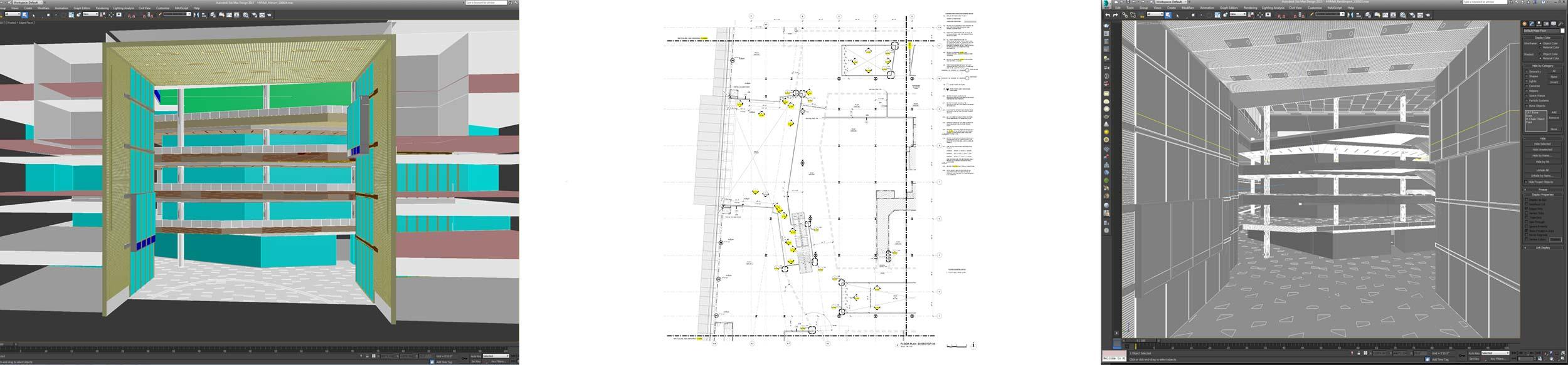 Starting design models and drawings by Kohn Pedersen Fox