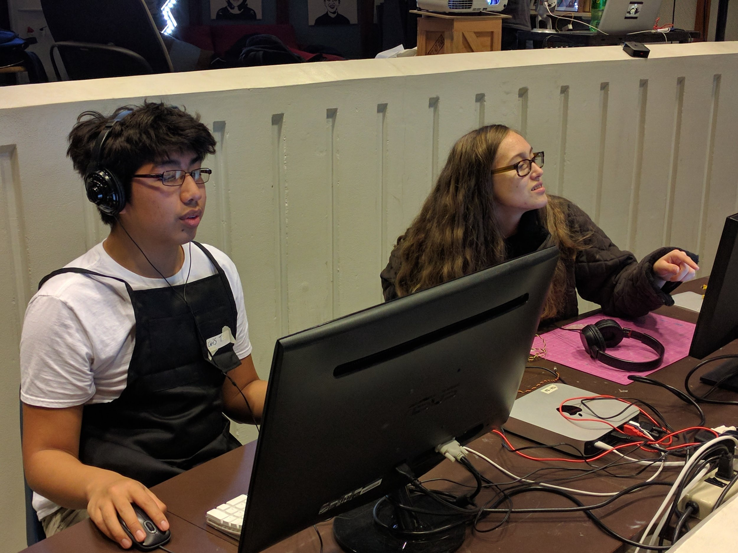 Chris and Ana building their programming skills.