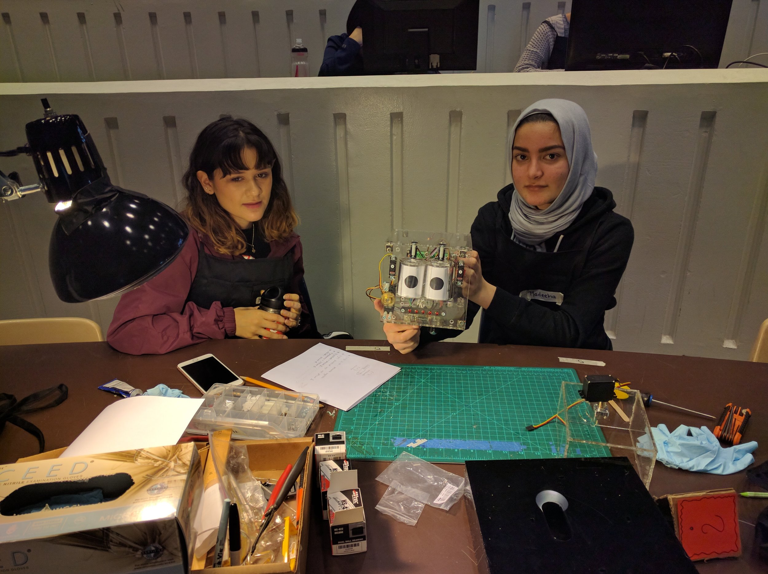 Madeeha and Marie show us their Jamie with their newly made eyes!