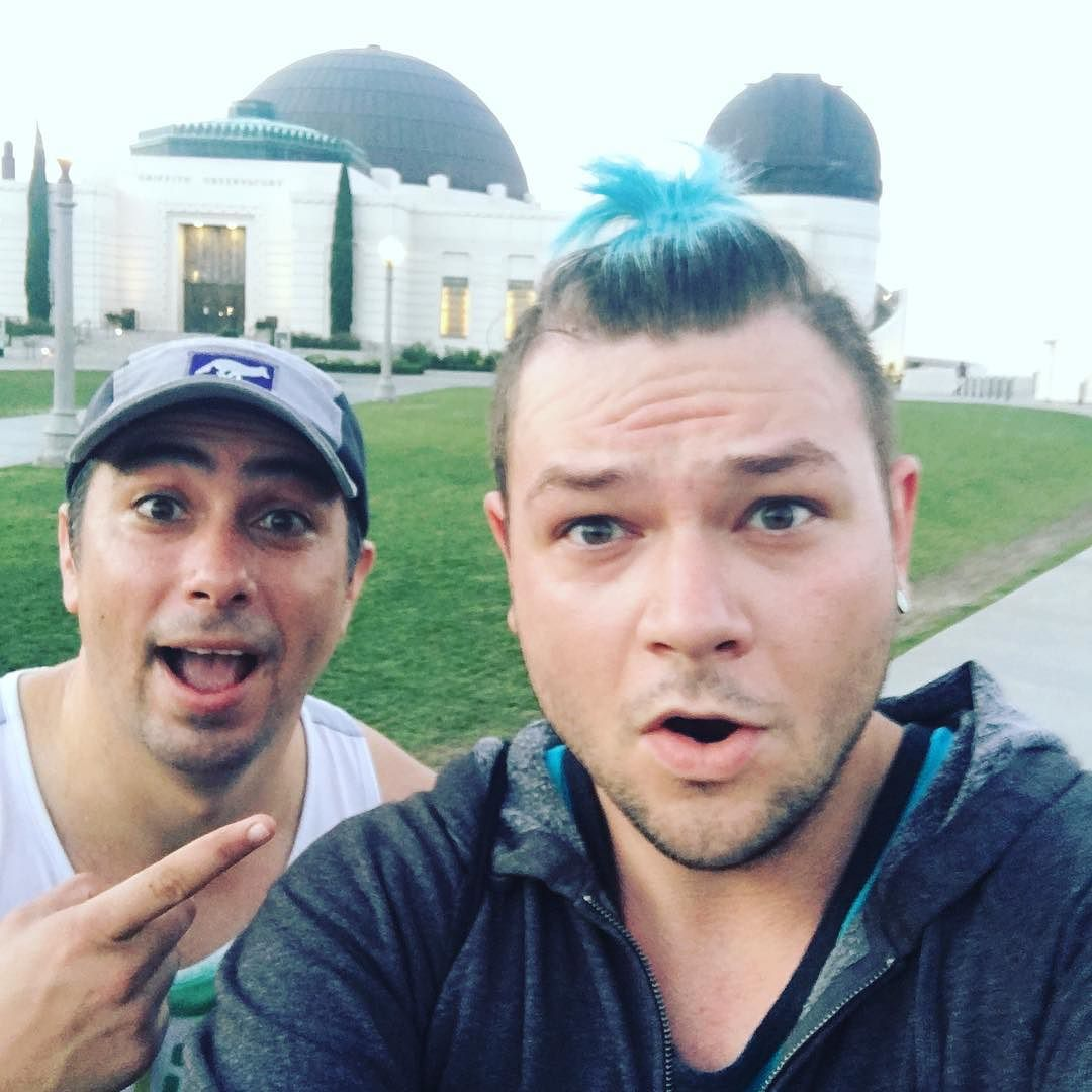 5:30am run at the Griffith Observatory with this rad guy! @geekscapedotnet What a crazy coincidence!
