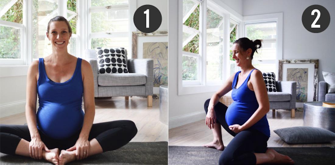 Prenatal Yoga Basics for Beginners Cobblers Pose 2
