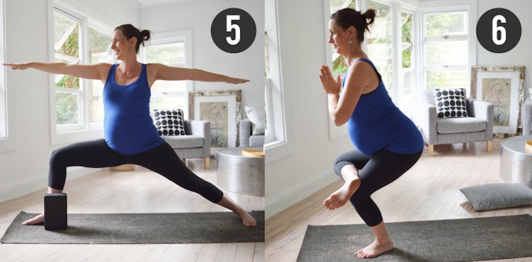 Stretch & Glow Prenatal Yoga Triangle Pose