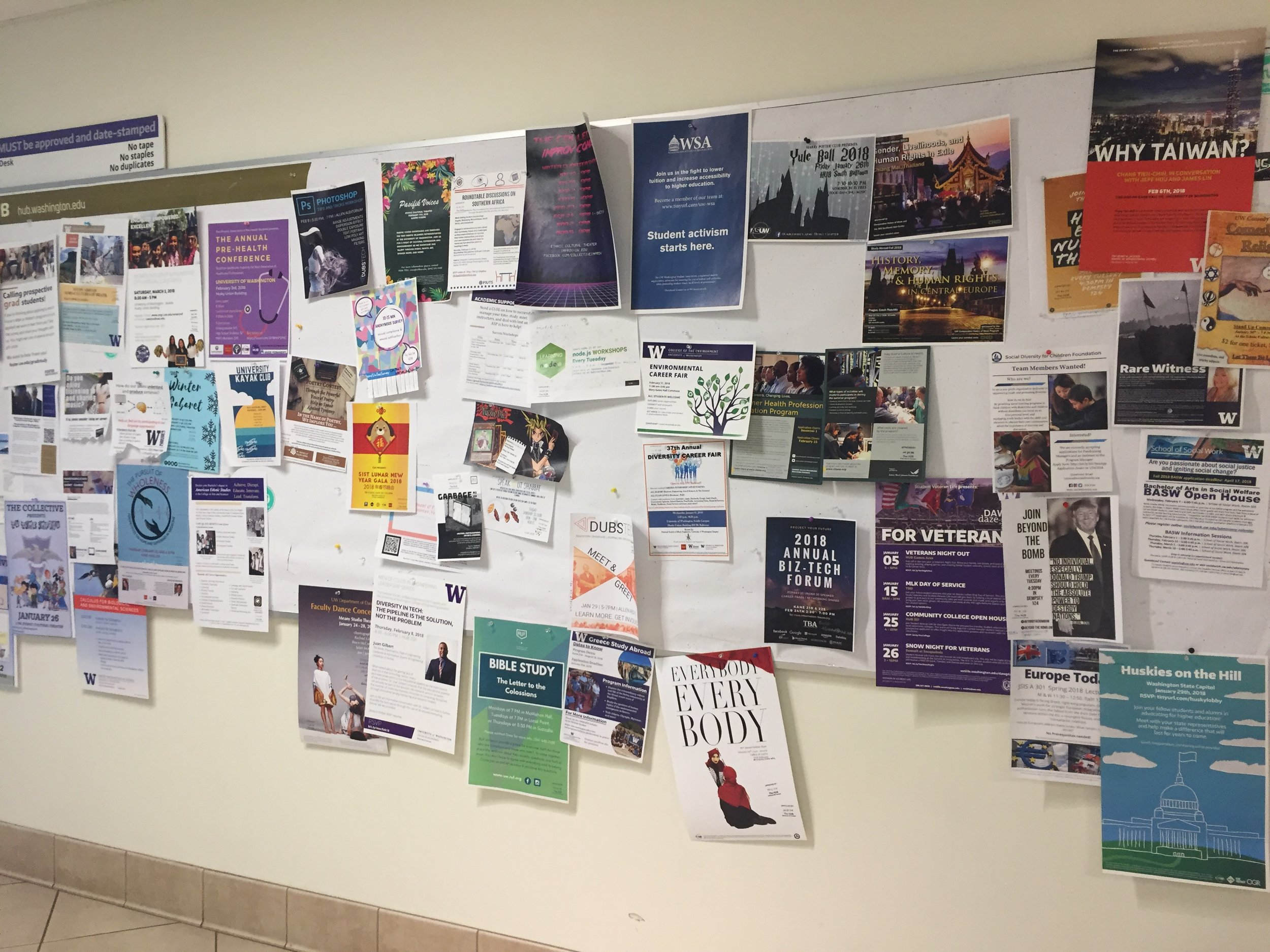 Campus Event Wall