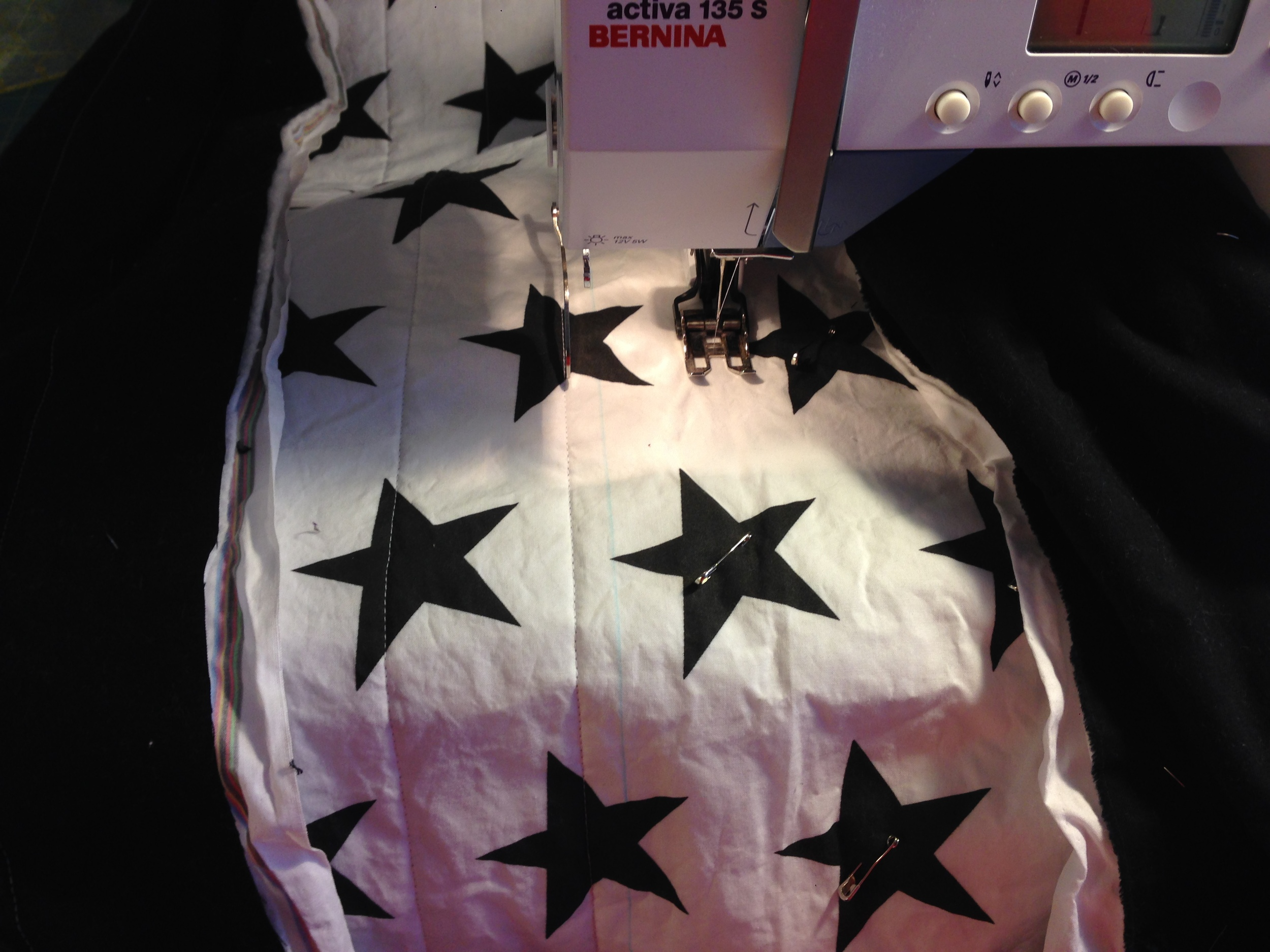 black star fabric has just arrived and is ready for quilting