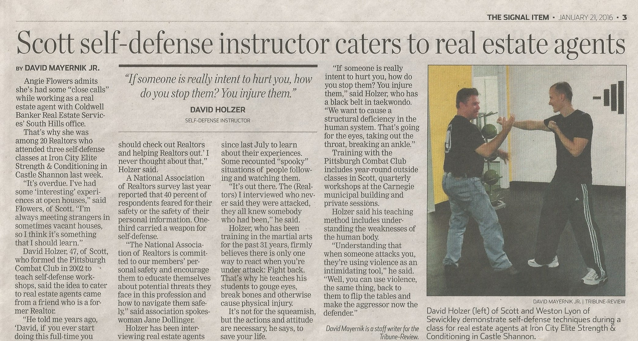 Pittsburgh Combat Club in the news!