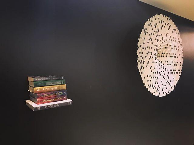 A shelf in an endless library #art #artmiami #artmiami2017