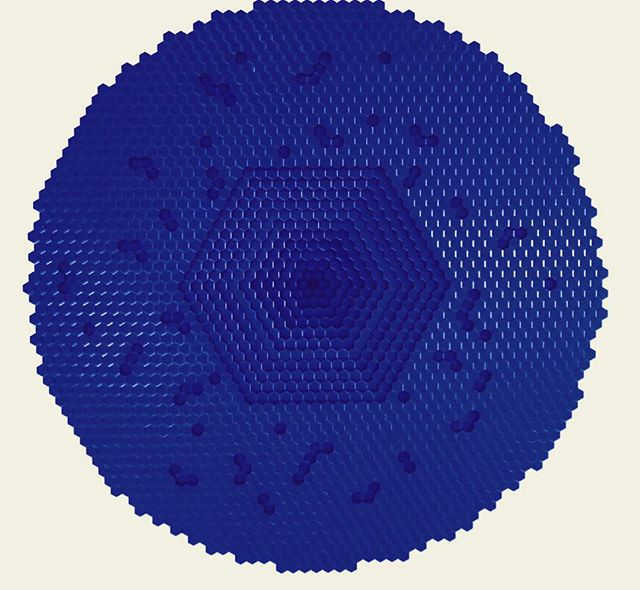 #blue . . . #art #artmiami #universeofbabel #hexagon #knowledge #yvesklein