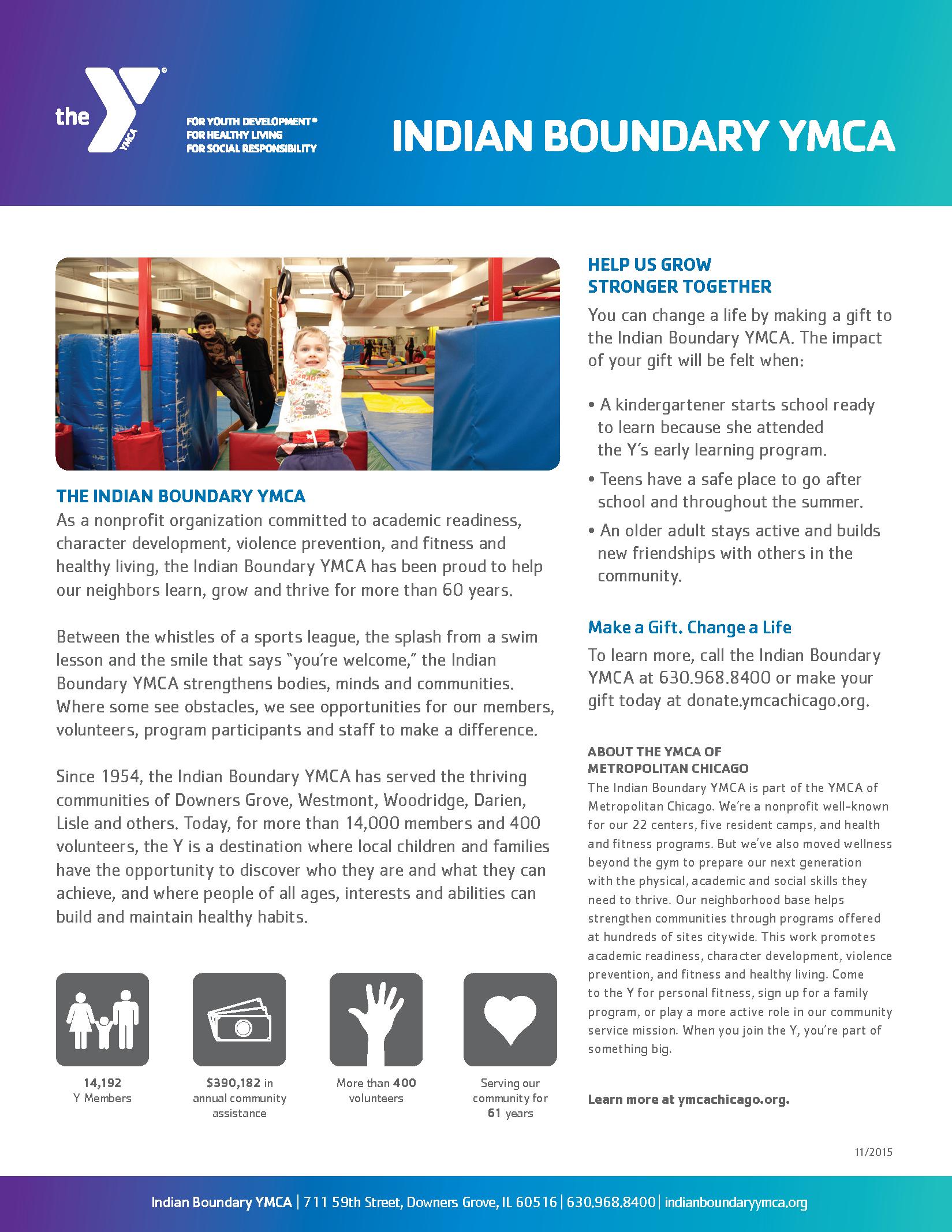 Indian Boundary YMCA one-sheet, side 2