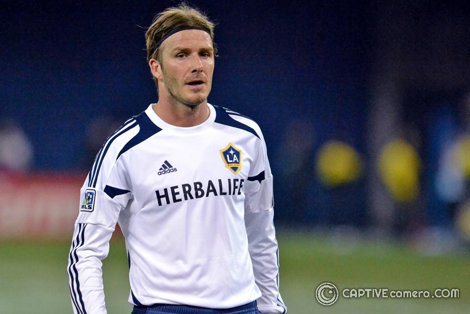 David Beckham of LA Galaxy at Toronto Rogers Centre