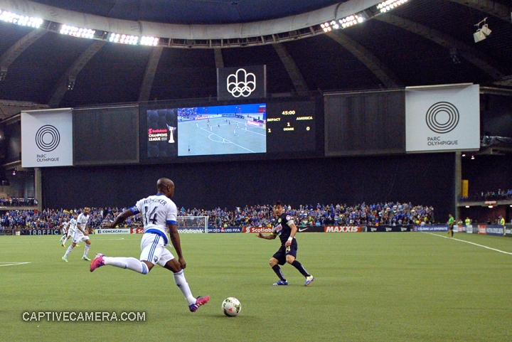 Montreal, Canada - April 29, 2015: Nigel Reo-Coker #14 of Montreal Impact prepares to send the ball down the field.
