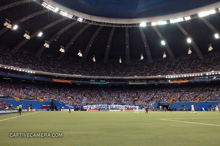 Montreal, Canada - April 29, 2015: The Olympic stadium was sold out to witness the second leg of the Scotiabank CONCACAF Champions League final.