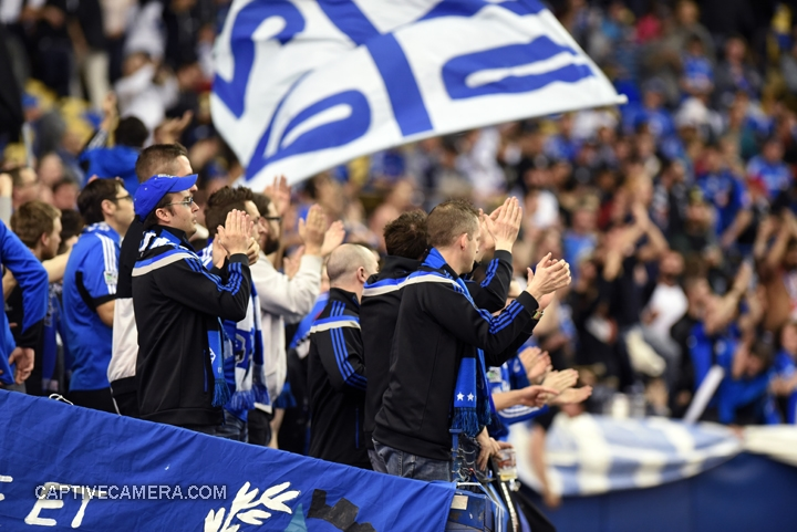 Montreal, Canada - April 29, 2015:  Montreal supporters were on hand to witness the first ever CONCACAF Champions League final played in Canada.